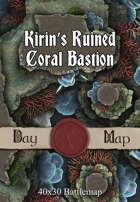 40x30 Battlemap - Kirin's Ruined Coral Bastion