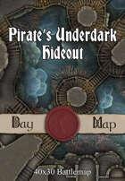 40x30 Battlemap - Pirate's Underdark Hideout