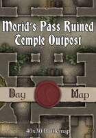40x30 Battlemap - Morid's Pass Ruined Temple Outpost