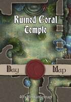 40x30 Battlemap - Ruined Coral Temple