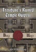 40x30 Battlemap -  Frostbane's Ruined Temple Outpost