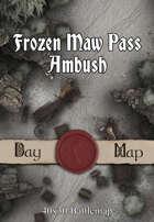 40x30 Battlemap - Frozen Maw Pass Ambush