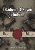40x30 Battlemap - Deadwind Canyon Ambush