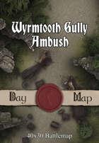 40x30 Battlemap - Wyrmtooth Gully Ambush