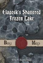 40x30 Battlemap - Elagosk's Shattered Frozen Lake
