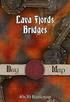 40x30 Battlemap - Lava Fjords Bridges