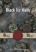 40x30 Battlemap - Black Ice Gully