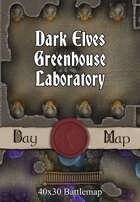 40x30 Battlemap - Dark Elves Greenhouse Laboratory