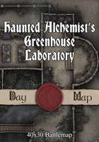 40x30 Battlemap - Haunted Alchemist's Greenhouse Laboratory