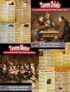 Tavern Menu & Drink Handouts Collection [BUNDLE]