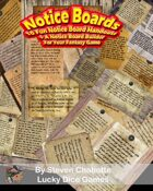 """Notice Boards Generator Template Plus 10 Fun """"Help Wanted"""" Handouts For Your Fantasy City Adventures"""