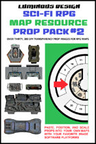 Sci-fi RPG Map Prop Pack #2