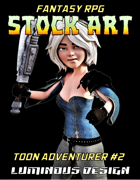 Fantasy RPG Stock Art Toon Character #2