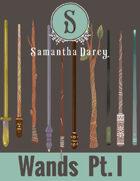 Filler Spot Art - Wands Pt 1 - by Samantha Darcy