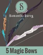 Filler Spot Art - Five Magic Bows - by Samantha Darcy