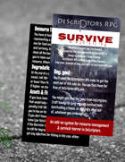 DeScriptors: Survive - Resource Management Variation for DeScriptors RPG