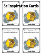Inspiration Cards for 5e