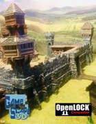 Huge Citadel Walls and Towers