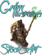 Basic Fantasy Stock Art - Druid #1 (seated)