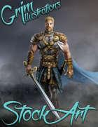 Premium Fantasy Stock Art - Paladin #7 (human)