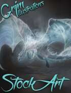 Premium Fantasy Stock Art - Dragon #4 (ghost with variant)