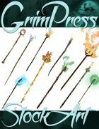 Magical Items Stock Art - Staff Pack #1
