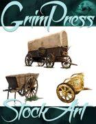 Basic Fantasy Stock Art - Wagon Pack #1