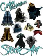 Magical Items Stock Art - Cloak Pack #1