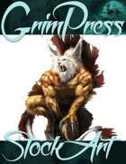Basic Fantasy Stock Art - Creature #2 (alal lion beast)