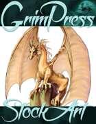 Basic Fantasy Stock Art - Dragon #1 (bronze)