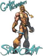 Basic Fantasy Stock Art - Warrior #1 (human)