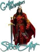 Basic Fantasy Stock Art - Warrior #4 (human royal)