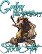 Basic Fantasy Stock Art - Druid #2 (human)