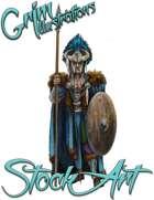 Basic Fantasy Stock Art - Warrior #5 (tribal)