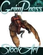 Basic Fantasy Stock Art - Creature #4 (armored werebat)