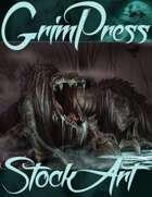 Standard Fantasy Stock Art - Creature #2 (swamp beast)