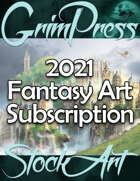 Commercial Fantasy Art Subscription 2021