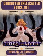 Premium Stock Art: Corrupted Spellcaster (Cities of Myth)