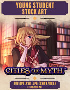 Premium Stock Art: Young Student (Cities of Myth)