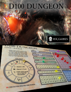 D100 Dungeon - Game Tracker Print and Play