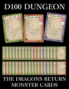 D100 Dungeon - The Dragons Return Monster Cards