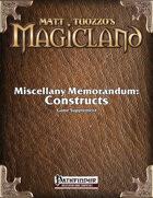 Miscellany Memorandum: Constructs