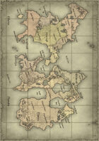 Knights & Legends Ezorian Map Print