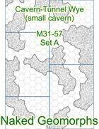 Cavern-Tunnel Wye (small cavern) Set A (M31-57A)