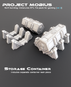 3D Printable Storage Container Includes Separate Container Rack Piece