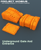 3D Printable Underground Gate And Entrance