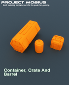 3D Printable Container, Crate and Barrel