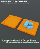 3D Printable Large Single Helipad / Drop Zone