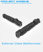 3D Printable Enforcer Class Battlecruiser - The Thor