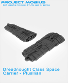 3D Printable Dreadnought Class Space Carrier - Plusllian
